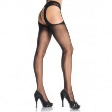 Leg Avenue - Black Suspender Hose - One Size